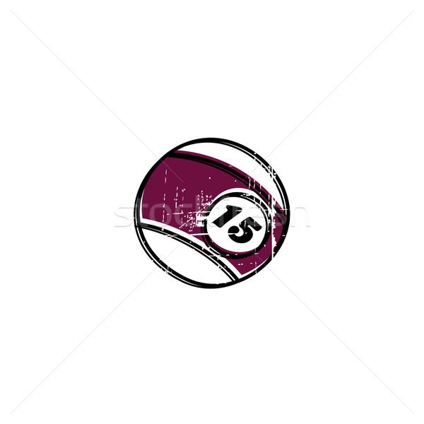 De bilhar bola esboço sujo rabisco vetor Foto stock © vector1st