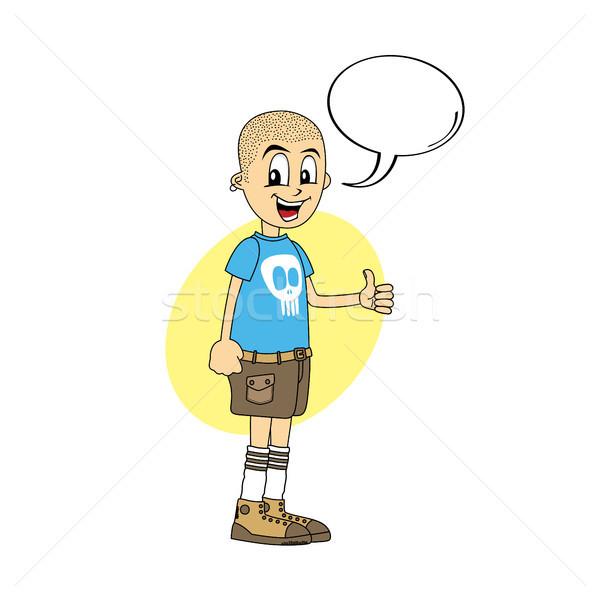 male cartoon character thumb up Stock photo © vector1st