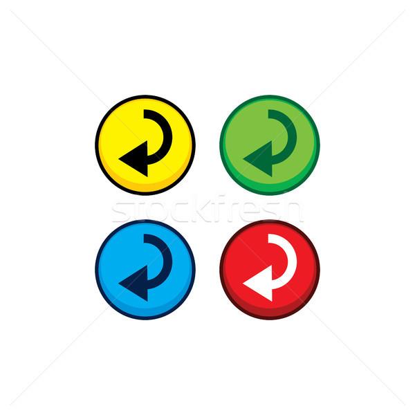 color game asset menu icon button vector Stock photo © vector1st
