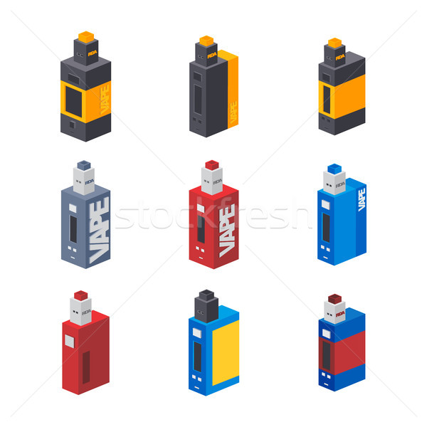 isometric electric cigarette personal vaporizer Stock photo © vector1st