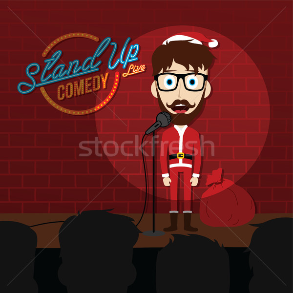 stand up comedy comic santa claus Stock photo © vector1st
