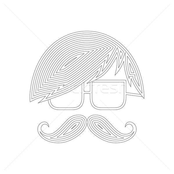 whiskers mustache guy avatar Stock photo © vector1st