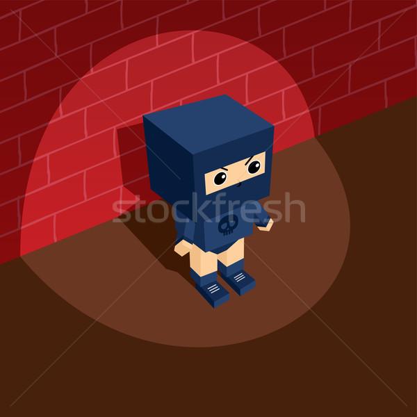 Bösewicht Vektor Kunst Illustration Stock foto © vector1st