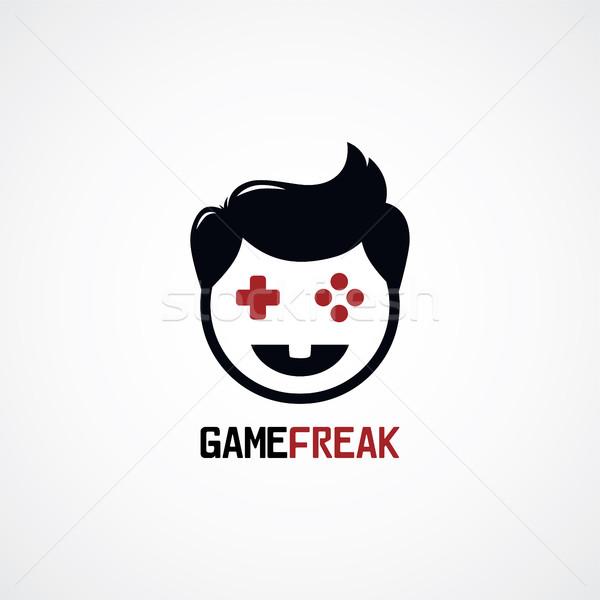 Spel video game bedieningshendel man knop Stockfoto © vector1st