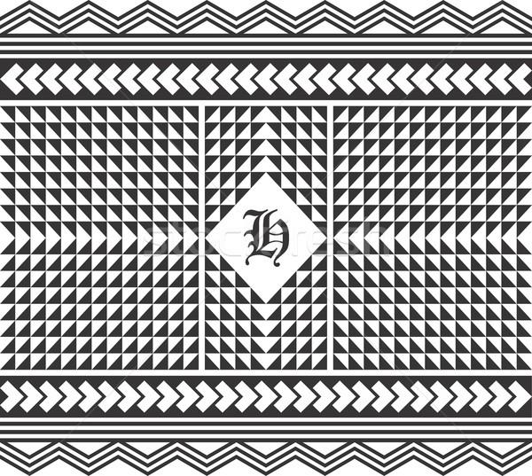Foto d'archivio: Nativo · americano · pattern · vettore · grafica · arte