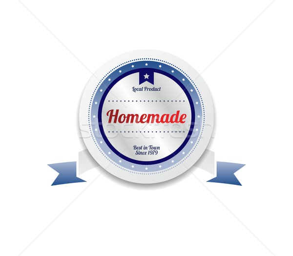 домашний продукт продажи качество Label наклейку Сток-фото © vector1st