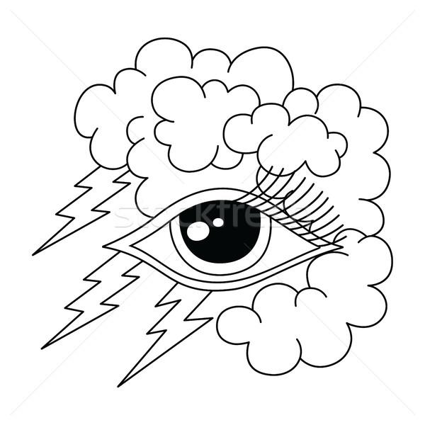 雷 眼 シンボル ベクトル 芸術 ストックフォト © vector1st