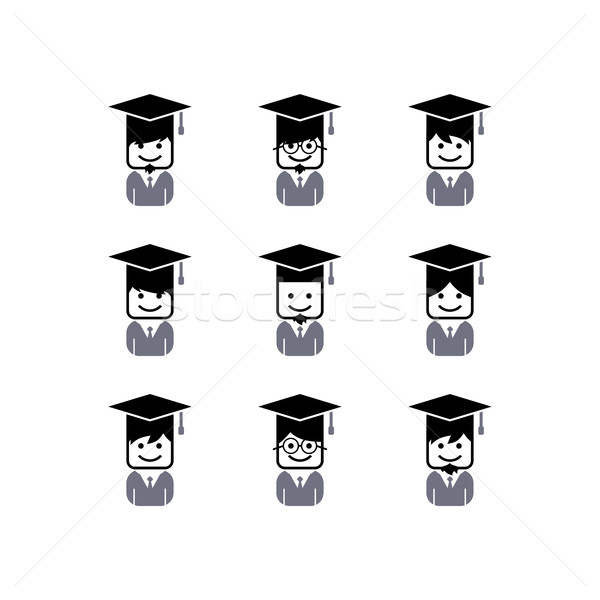 Akademicki avatar wektora sztuki ilustracja Zdjęcia stock © vector1st