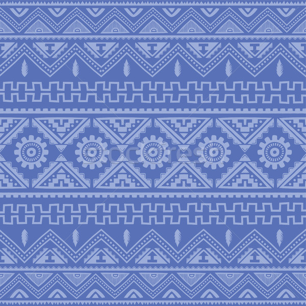 soft blue native american ethnic pattern Stock photo © vector1st