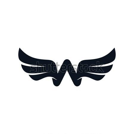Carta alas logo vector arte Foto stock © vector1st
