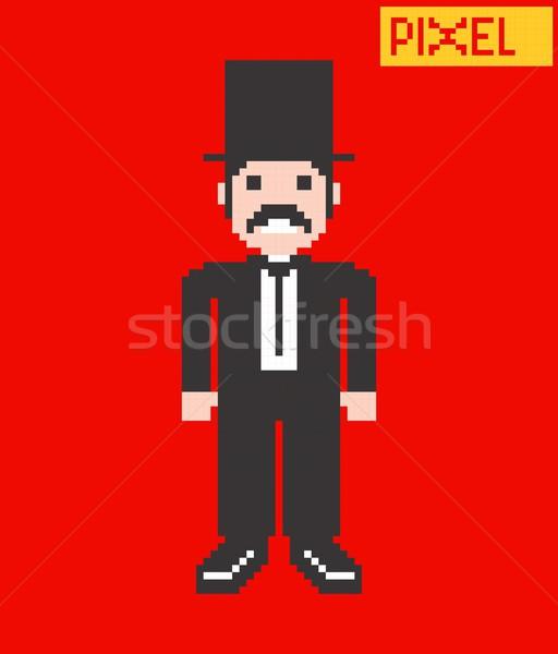 pixel character Stock photo © vector1st