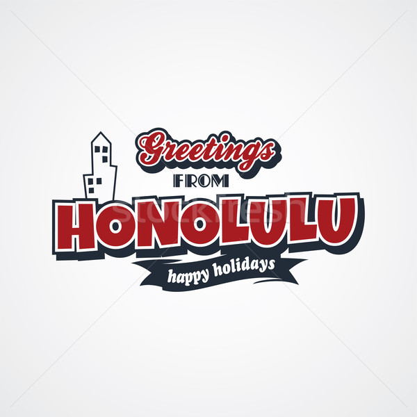 honolulu vacation greetings theme Stock photo © vector1st
