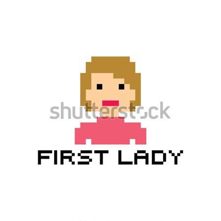 pixel people theme avatar guy Stock photo © vector1st