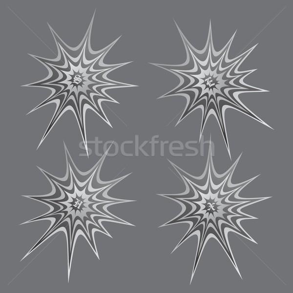 Pókháló vektor grafikus művészet terv illusztráció Stock fotó © vector1st