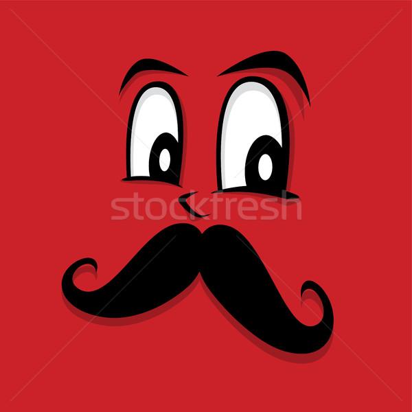 retro hipster guy face Stock photo © vector1st
