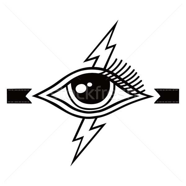 bolt lightning eye symbol theme Stock photo © vector1st