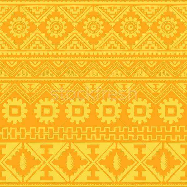 Narancs őslakos amerikai kisebbségi minta vektor Stock fotó © vector1st