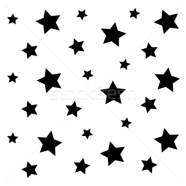 Negru stea model vector artă Imagine de stoc © vector1st