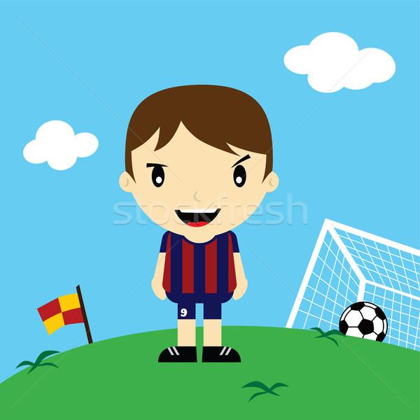 смешные Cartoon футболист лига вектора искусства Сток-фото © vector1st