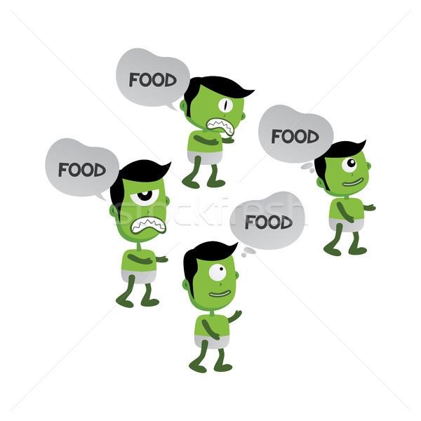 зеленый зомби монстр характер вектора искусства Сток-фото © vector1st
