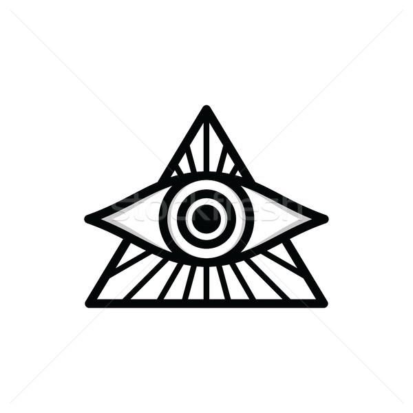 Stock photo: one eye sign symbol logo logotype