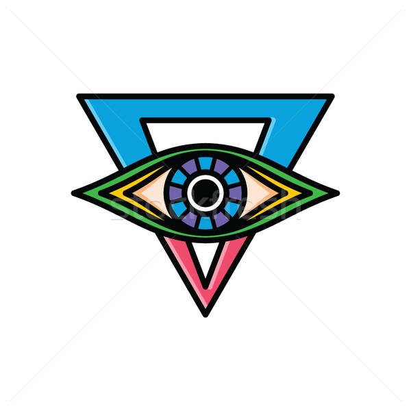 Une oeil signe symbole logo Photo stock © vector1st