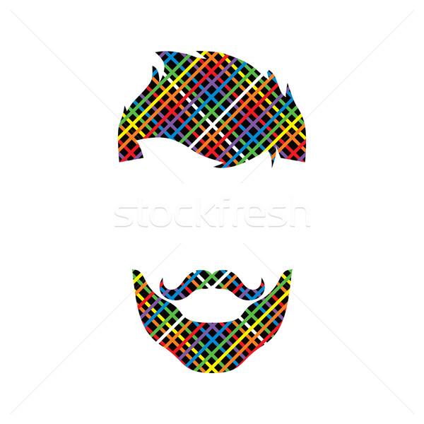 ретро парень красочный линия вектора Сток-фото © vector1st