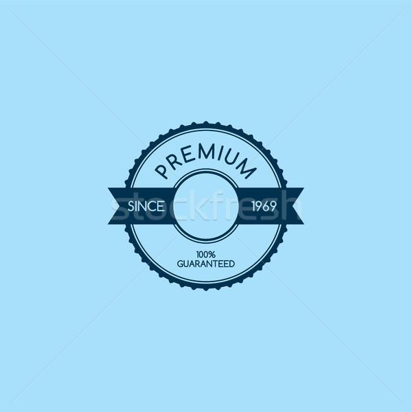 премия качество гарантировать продукт Label Знак Сток-фото © vector1st