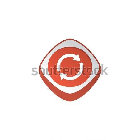 Glänzend Farbe App Symbol Taste Stock foto © vector1st