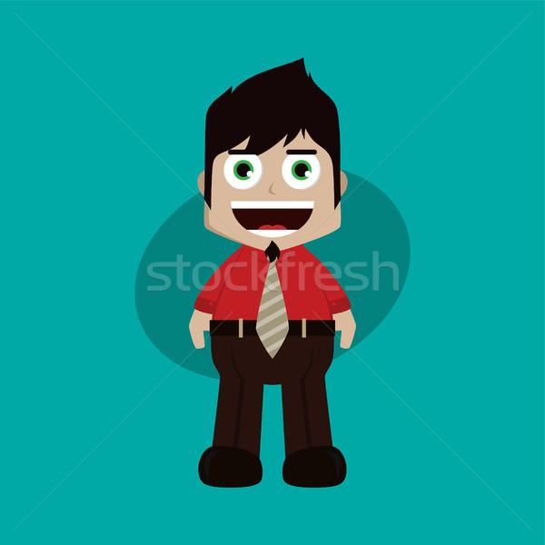 бизнесмен менеджера работу Cartoon вектора искусства Сток-фото © vector1st