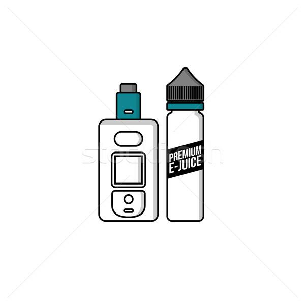 Személyes folyadék műanyag üveg vektor művészet Stock fotó © vector1st