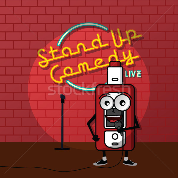 Stand up comédie vecteur art illustration Photo stock © vector1st
