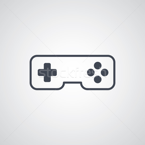 Joystick jeu consoler vecteur art illustration Photo stock © vector1st