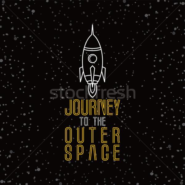 Cohete buque ilustración espacio Foto stock © vector1st