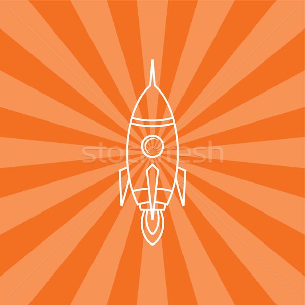 ракета судно запуск вектора искусства иллюстрация Сток-фото © vector1st