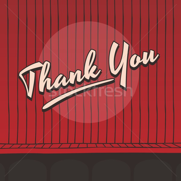 thank you live stage red curtain Stock photo © vector1st