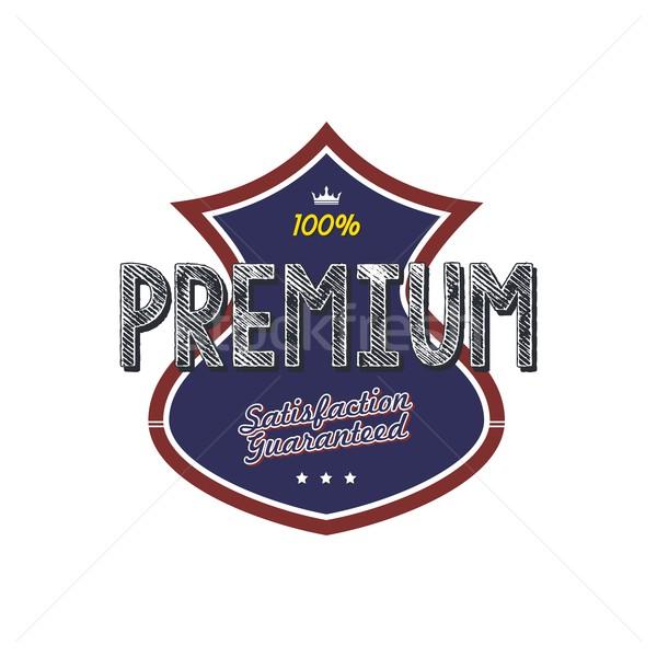Prémium minőség kitűző termék vektor művészet Stock fotó © vector1st