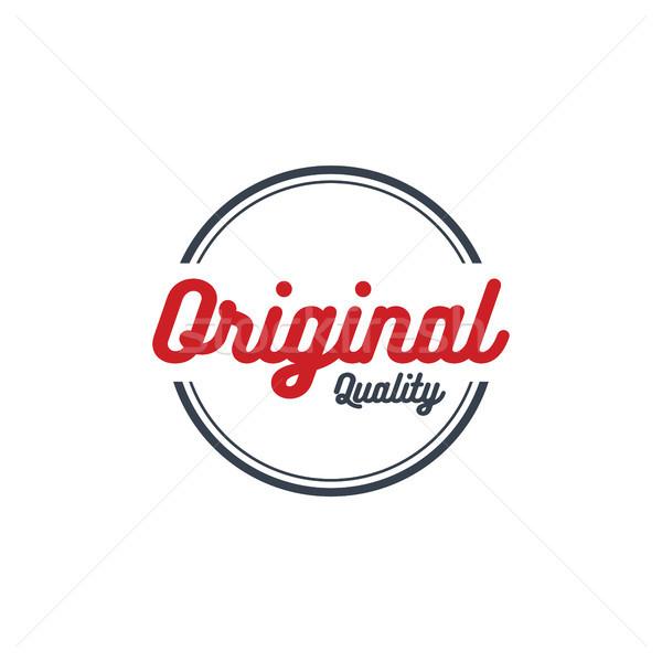 Minőség garancia címke felirat csillag bizonyítvány Stock fotó © vector1st