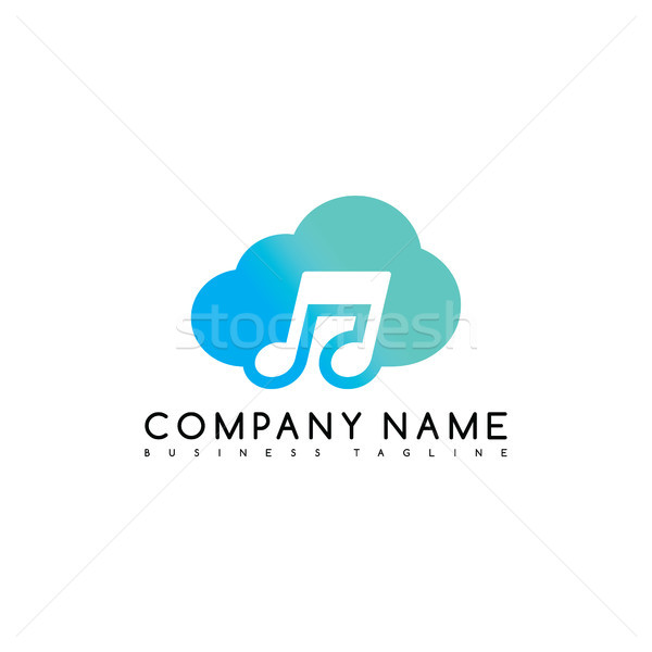 music cloud brand company template logo logotype vector art Stock photo © vector1st