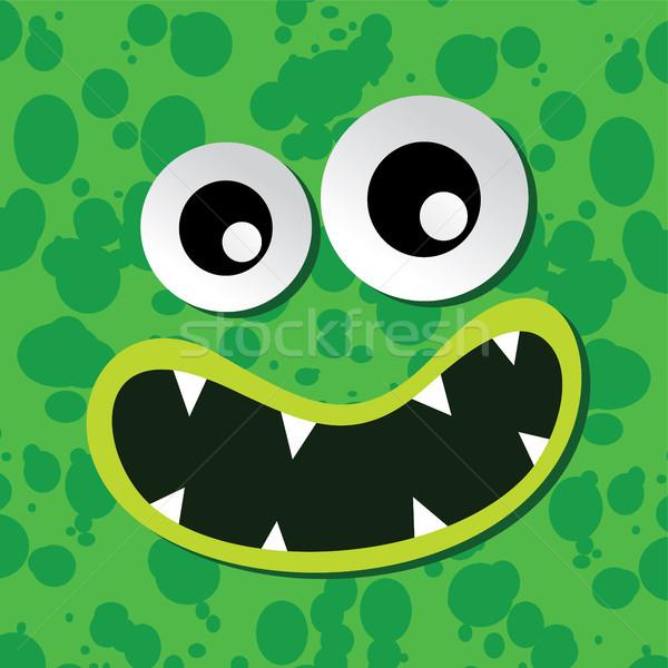 Monstre personnage visage coloré vecteur art Photo stock © vector1st