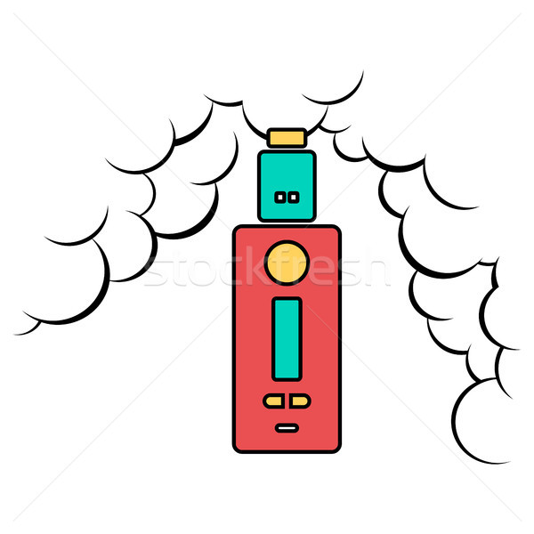 Stock photo: vaporizer electric cigarette vapor mod - vape life
