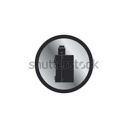 Elektrik sigara kişisel ikon düğme vektör Stok fotoğraf © vector1st