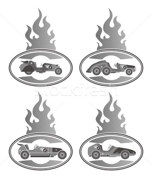 Voiture de course vecteur graphique art design Photo stock © vector1st