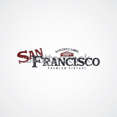 san francisco varsity theme Stock photo © vector1st