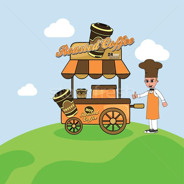 food cart vendor Stock photo © vector1st