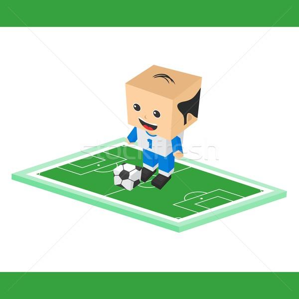 Futbol karikatür erkek vektör grafik sanat Stok fotoğraf © vector1st