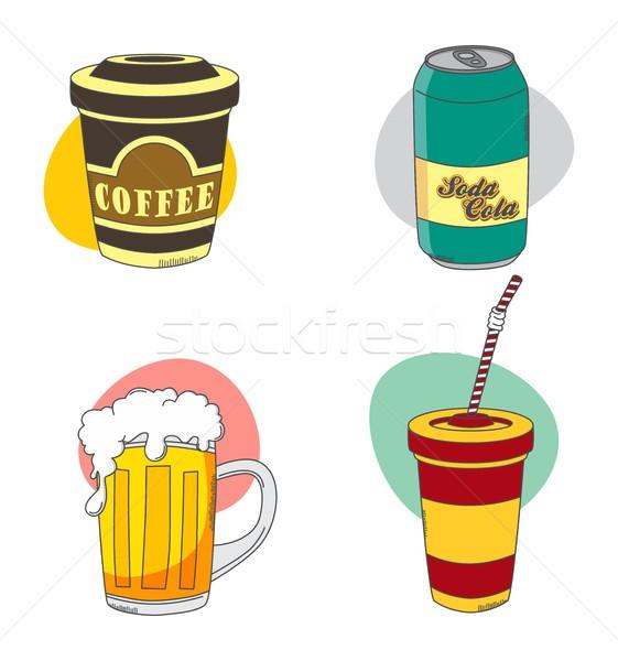 продовольствие пить вектора графических искусства Сток-фото © vector1st