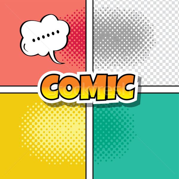 cartoon comic book template Stock photo © vector1st