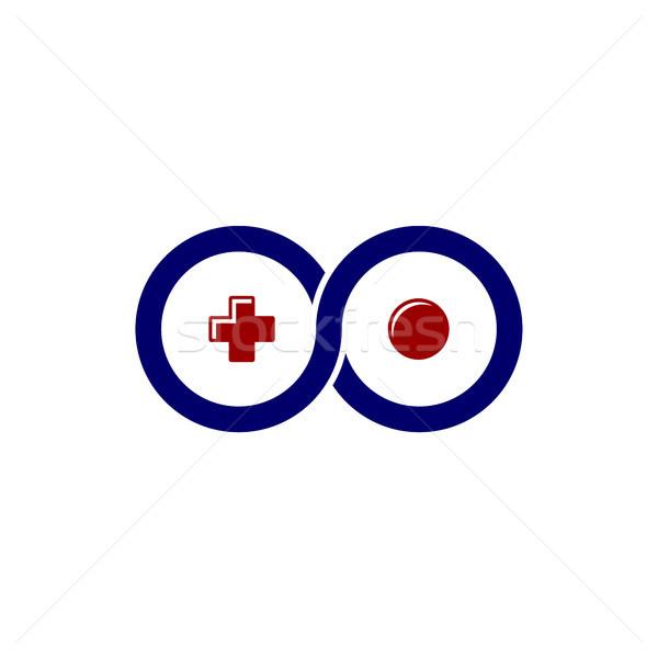 Oneindigheid video game bedieningshendel troosten logo sjabloon Stockfoto © vector1st