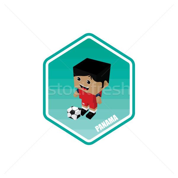Futball izometrikus Panama vektor művészet rajz Stock fotó © vector1st